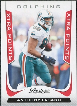 2011 Panini Prestige Xtra Points Red #102 Anthony Fasano /100