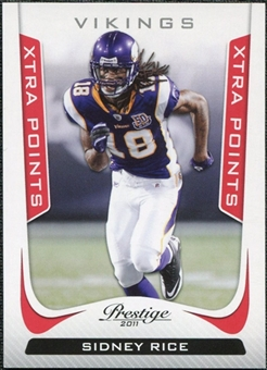 2011 Panini Prestige Xtra Points Red #111 Sidney Rice /100