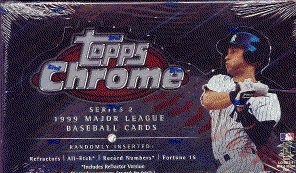 1999 Topps Chrome Series 2 Baseball Hobby Box