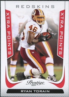 2011 Panini Prestige Xtra Points Red #197 Ryan Torain /100