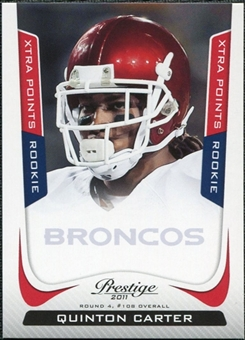 2011 Panini Prestige Xtra Points Red #278 Quinton Carter /100