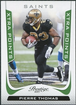 2011 Panini Prestige Xtra Points Green #125 Pierre Thomas /25