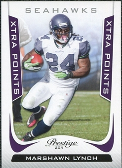 2011 Panini Prestige Xtra Points Purple #175 Marshawn Lynch /50