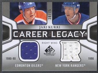 2010/11 SP Game Used #CL2JK Jari Kurri Career Legacy Jersey #38/75
