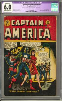 Captain America Comics #65 CGC 6.0 Slight (C-1) Restoration (C-OW) *1210005004*