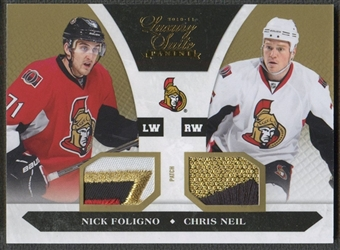 2010/11 Luxury Suite #90 Nick Foligno & Chris Neil Prime Patch Gold #01/10