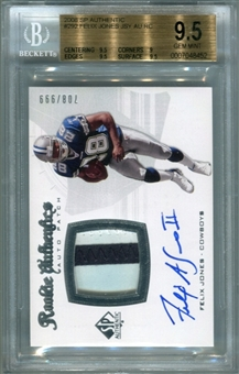 2008 SP Authentic #292 Felix Jones III Rookie Patch Autograph BGS 9.5 Gem Mint