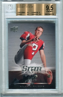 2008 Upper Deck #305 Matt Ryan SP Rookie Card BGS 9.5 Gem Mint