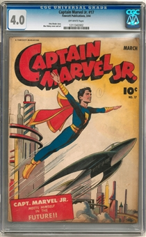Captain Marvel Jr #17 CGC 4.0 (OW) *1211342002*
