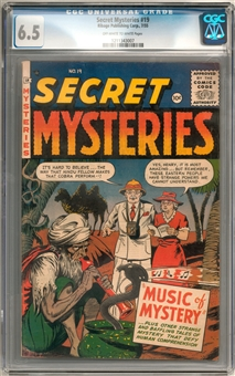 Secret Mysteries #19 CGC 6.5 (OW-W) *1211343007*