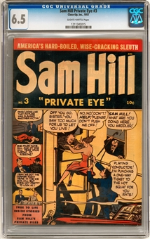 Sam Hill Private Eye #3 CGC 6.5 (SB) *1211345015*