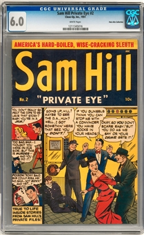 Sam Hill Private Eye #2 CGC 6.0 (W) *1211345016*