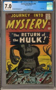 Journey Into Mystery #66 CGC 7.0 (OW-W) *1211365011*