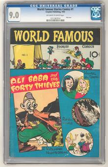 World Famous Stories Comics #1 CGC 9.0 (OW-W) *1211367014*