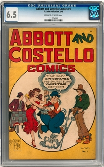 Abbott and Costello Comics #1 CGC 6.5 (C-OW) *1211374002