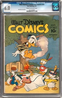 Walt Disney's Comics and Stories #24 CGC 6.0 (C-OW) *1211374005*
