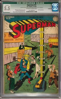 Superman #31 Qualified CGC 5.5 (Incomplete) (OW-W) *1211387010*