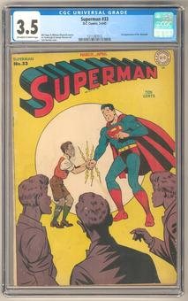 Superman #33 CGC 3.5 (OW-W) *1211387012*