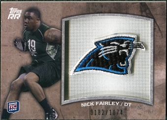 2011 Topps Rising Rookies Rookie Team Patches #RTPNF Nick Fairley /1074