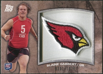 2011 Topps Rising Rookies Rookie Team Patches #RTPBG Blaine Gabbert /1074