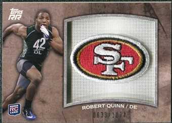 2011 Topps Rising Rookies Rookie Team Patches #RTPRQ Robert Quinn /1074