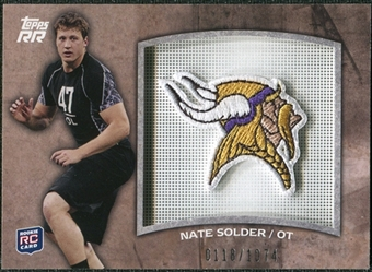 2011 Topps Rising Rookies Rookie Team Patches #RTPNS Nate Solder /1074