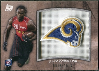 2011 Topps Rising Rookies Rookie Team Patches #RTPJJ Julio Jones /1074
