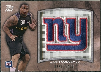 2011 Topps Rising Rookies Rookie Team Patches #RTPMP Mike Pouncey /1074