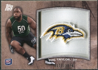 2011 Topps Rising Rookies Rookie Team Patches #RTPPT Phil Taylor /1074