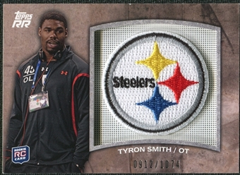 2011 Topps Rising Rookies Rookie Team Patches #RTPTSM Tyron Smith /1074