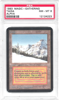 Magic the Gathering Alpha Single Taiga PSA 8 - *12124223*