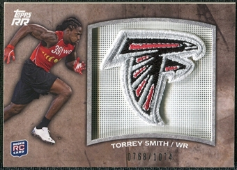 2011 Topps Rising Rookies Rookie Team Patches #RTPTS Torrey Smith /1074
