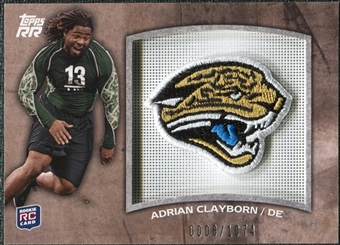 2011 Topps Rising Rookies Rookie Team Patches #RTPAC Adrian Clayborn /1074