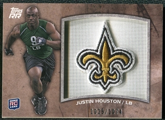 2011 Topps Rising Rookies Rookie Team Patches #RTPJH Justin Houston /1074