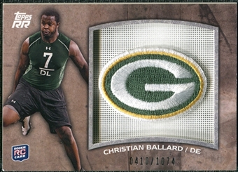2011 Topps Rising Rookies Rookie Team Patches #RTPCB Christian Ballard /1074