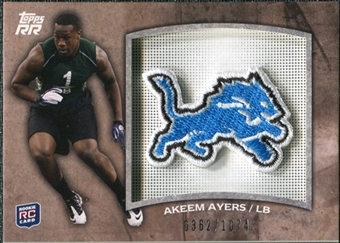 2011 Topps Rising Rookies Rookie Team Patches #RTPAA Akeem Ayers /1074
