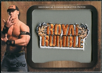 2009 Topps WWE Historical Commemorative Patch #P4 Royal Rumble/John Cena
