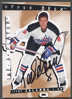 1994/95 Be A Player Autographs #11 Teemu Selanne Auto
