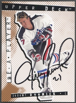 1994/95 Be A Player Autographs #12 Jeremy Roenick Auto