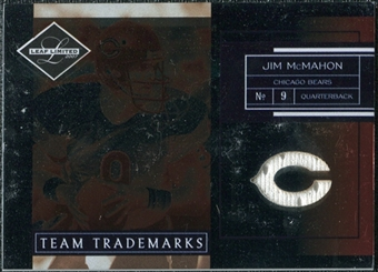 2007 Leaf Limited Team Trademarks Materials Team Logo #37 Jim McMahon /50