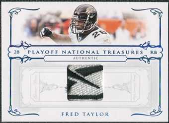 2007 Playoff National Treasures Material Prime Brand Logo #30 Fred Taylor /10