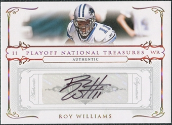 2007 Playoff National Treasures Signature Gold #41 Roy Williams WR Autograph /25