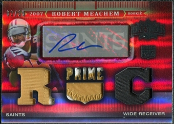 2007 Topps Triple Threads Rookie Autographed Relic Prime Red #143 Robert Meachem Jersey Autograph 2/10