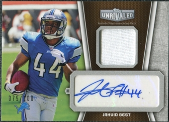 2010  Topps Unrivaled Autograph Patch #UAPJB Jahvid Best /100