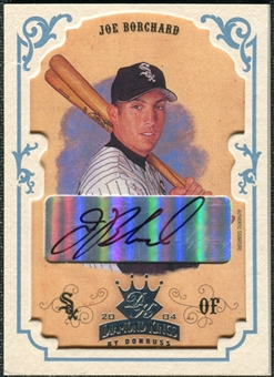 2004 Donruss Diamond Kings DK Signatures Framed Platinum White #81 Joe Borchard Autograph 1/1