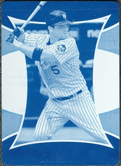 2007 Upper Deck Elements Printing Plates Cyan #26 David Wright 1/1