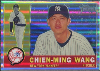 2009  Topps Heritage Chrome Refractors #C41 Chien-Ming Wang /560