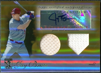 2009 Topps Tribute Autograph Relics Gold #JB1 Jay Bruce Auto /25
