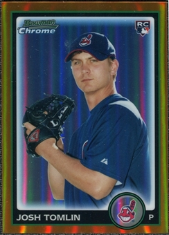 2010 Bowman Chrome Draft Orange Refractors #BDP76 Josh Tomlin /25