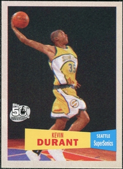 2007/08 Topps 1957-58 Variations #112 Kevin Durant Rookie Card